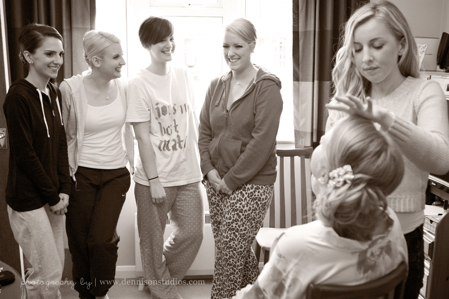 Getting ready with your bridesmaids
